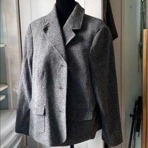 LL Bean Womens Wool Blend Blazer